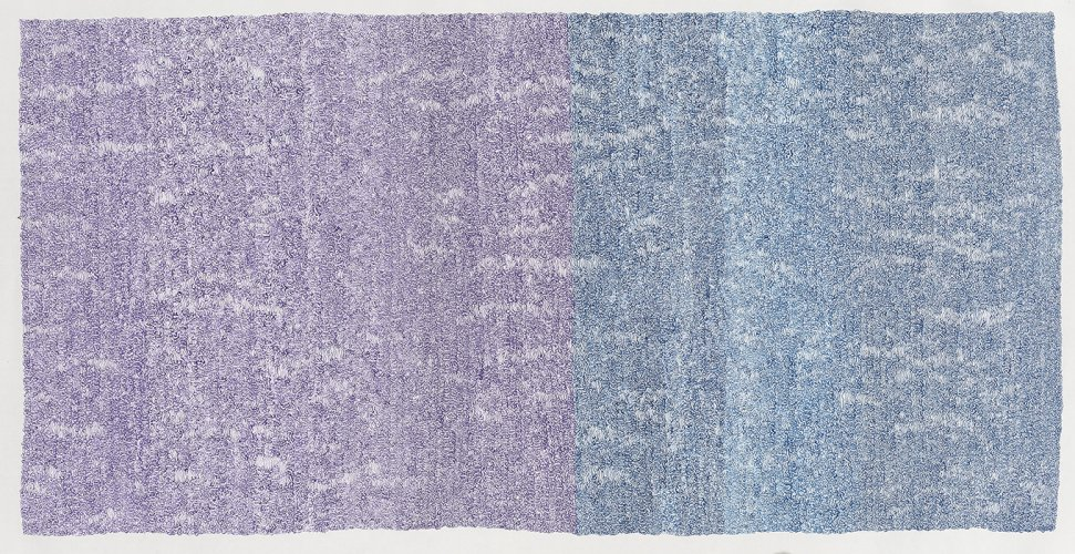 Mali chinese painting color-purple blue